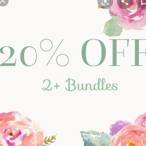 20% off bundles of two or more items!